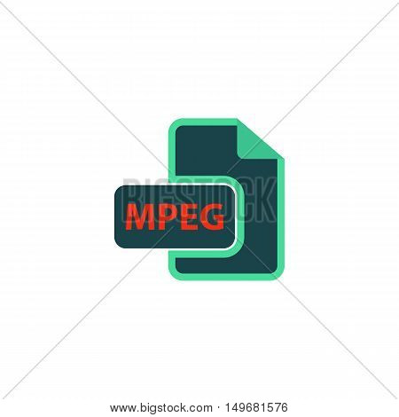 MPEG Icon Vector. Flat simple color pictogram