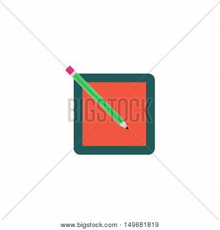 Registration Icon Vector. Flat simple color pictogram