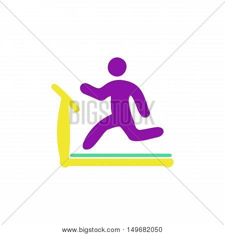 Treadmill Icon Vector. Flat simple color pictogram