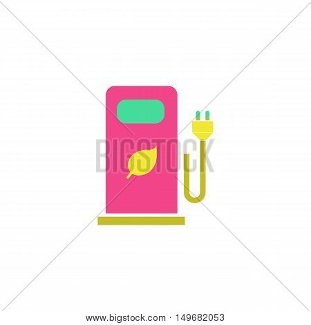 Bio gas Icon Vector. Flat simple color pictogram