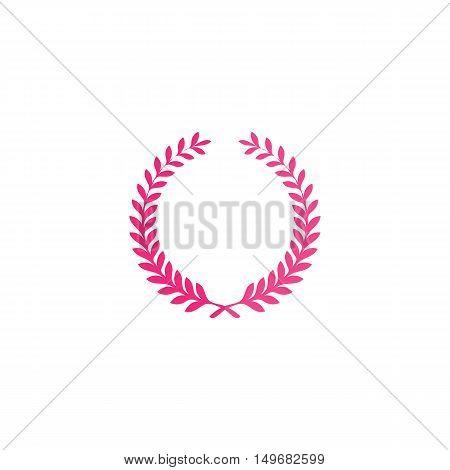 Wreath Icon Vector. Flat simple color pictogram