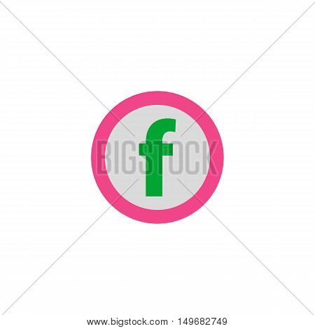 Letter F Icon Vector. Flat simple color pictogram