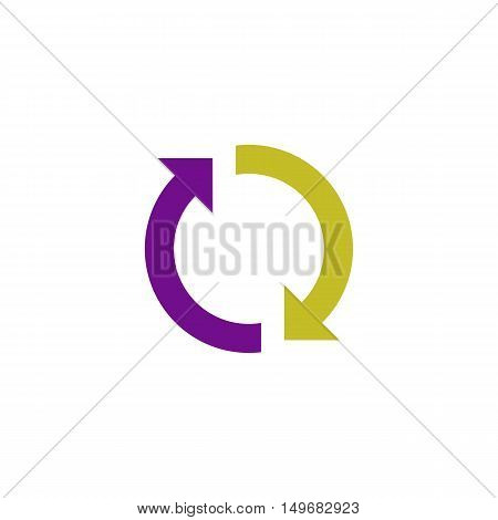 Reload Icon Vector. Flat simple color pictogram