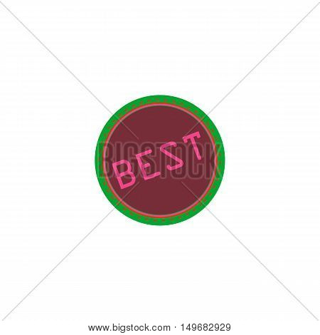 Best Icon Vector. Flat simple color pictogram