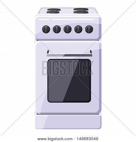 Stove for cooking icon in cartoon style isolated on white background. Cooking symbol vector illustration