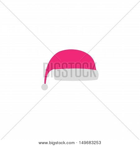 Santa's hat Icon Vector. Flat simple color pictogram