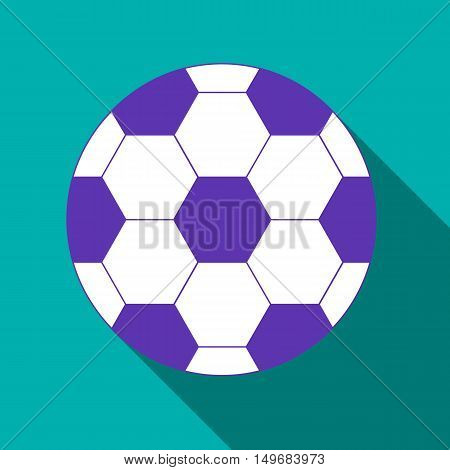 Soccer ball icon in flat style with long shadow. Sports and games symbol vector illustration
