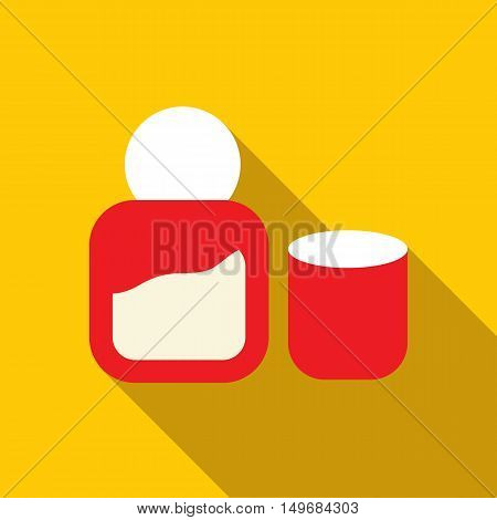 Womens perfume icon in flat style with long shadow. Aroma symbol vector illustration