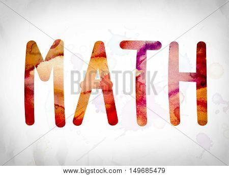 Math Concept Watercolor Word Art