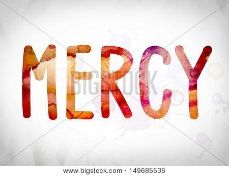 Mercy Concept Watercolor Word Art