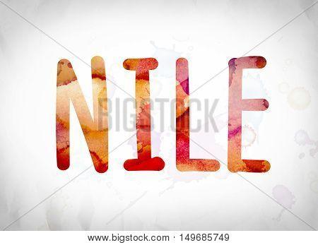 Nile Concept Watercolor Word Art