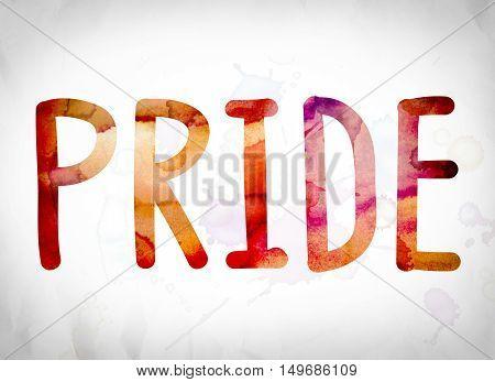 Pride Concept Watercolor Word Art