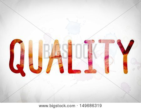 Quality Concept Watercolor Word Art