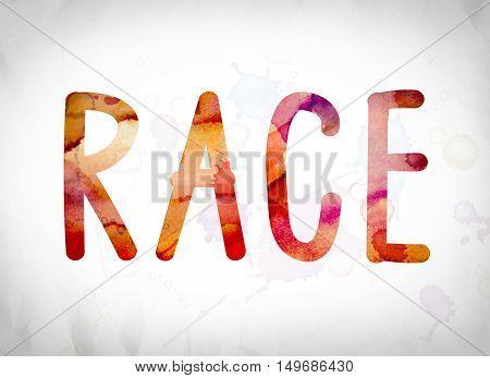 Race Concept Watercolor Word Art