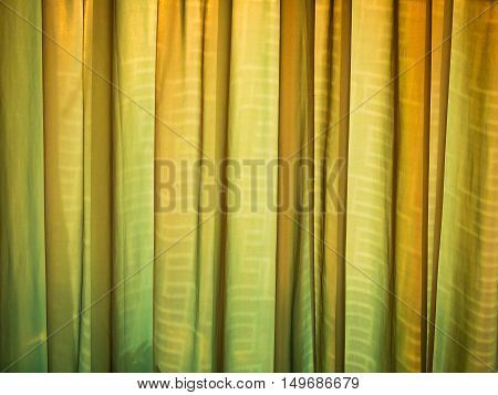 Color and pattern from fabric curtain background