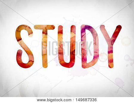 Study Concept Watercolor Word Art
