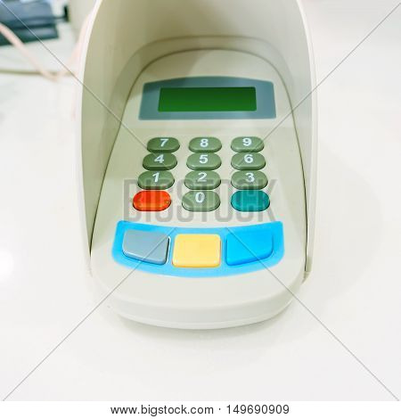 Bank of the password input device features