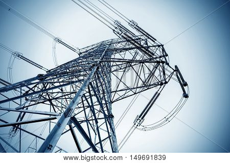 Stands on the ground high transmission tower