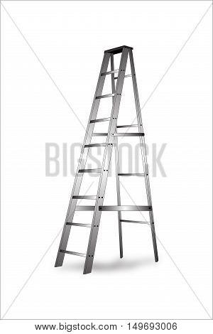 Aluminum Ladder Vector Illustration Business concept a ladder.