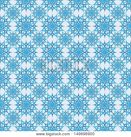 vector illustration Christmas seamless background set of snowflakes on a light background