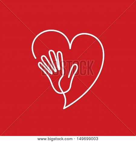 Vector sign friends of the heart, cardiologist concept