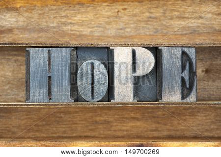 Hope Wooden Word Tray
