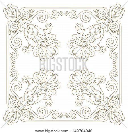 Decoration ornament, vintage ornament, baroque ornament, frame ornament, scroll ornament, border ornament, floral ornament, pattern ornament. vector