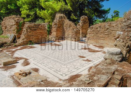 A view of ruins in Olympia, Greece