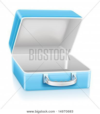 Empty Blue Lunch Box