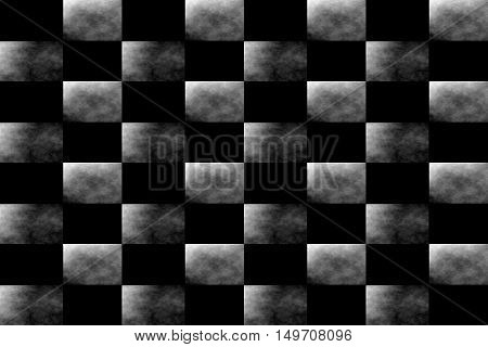 Illustration of an abstract black and white chessboard
