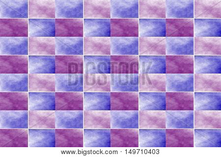 Illustration of an abstract purple and dark blue chessboard
