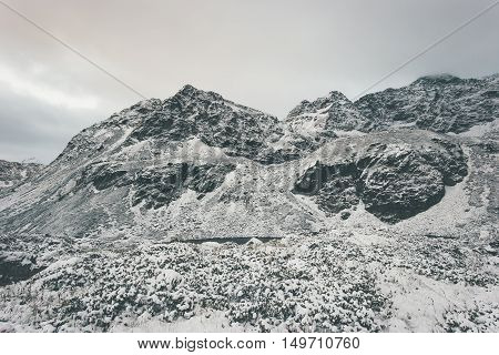 Rocky Mountains Landscape winter Travel serene scenic view snowy weather