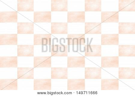 Illustration of an abstract white and vanilla colored chessboard