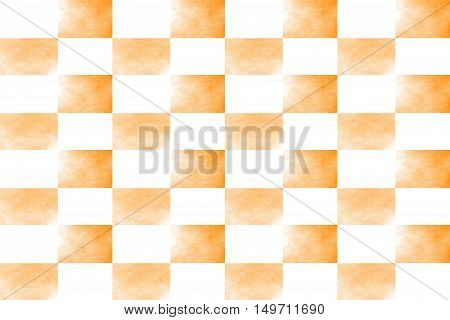 Illustration of an abstract orange and white chessboard