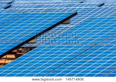 mediaum Shot Many outdoor solar cell panel