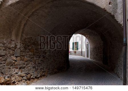 Castelnuovo Magra small ancient village in the province of La Spezia Liguria Italy
