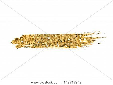Gold Brush Stroke Golden Paint Foil Glitter Color Effect Glittering Pattern Design