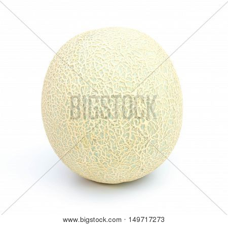 cantaloupe melon isolated on a white background