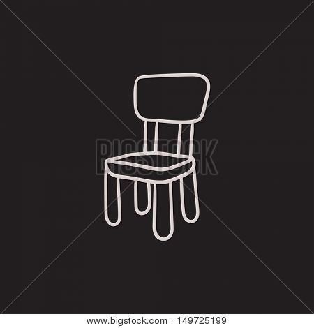 Chair for children vector sketch icon isolated on background. Hand drawn Chair for children icon. Chair for children sketch icon for infographic, website or app.