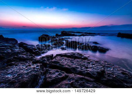 Evening Sunset On The Sea, Lndscape Photo