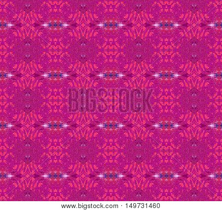 Abstract geometric seamless background. Regular diamond pattern in red violet shades, ornate and extensive.