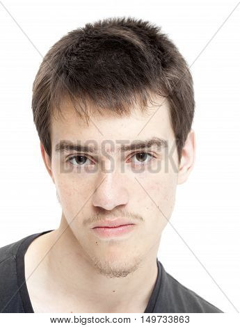 Teenage Boy With Short  Dark Hair