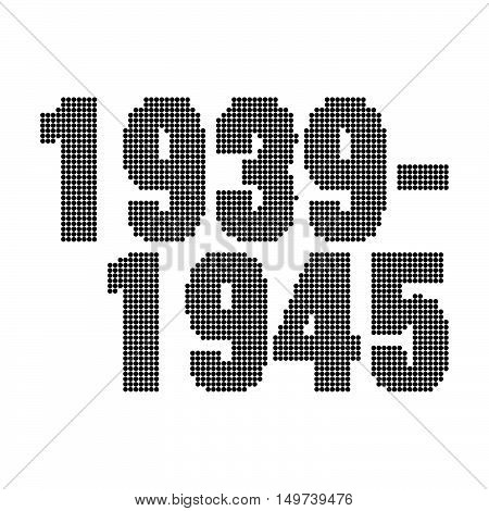1939-1945. Victory Day abstract background. Stock vector.
