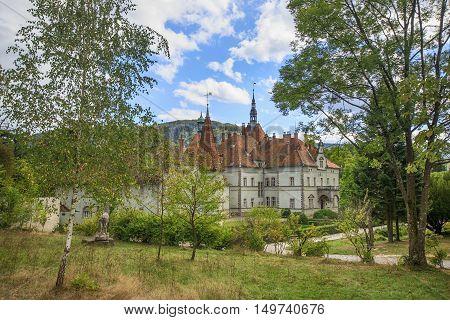 House of Schönborn - medieval palace of Austrian family in ukrainian Carpathians