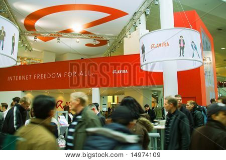 Hannover, Germany - March 5: Stand Of Avira On March 5, 2011 In Cebit Computer Expo, Hannover, Germa