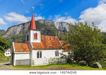 Undredal Stave churchl Norway. Built in 12th century it is the smallest in Norway.