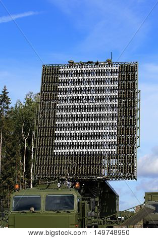 All-around antenna for air defense complex on a rotating platform