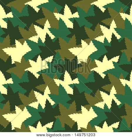 Cute bright seamless pattern background with camouflage colored pieces. Vector illustration
