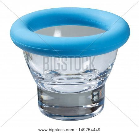 Eggcup isolated on white background. The image is a cut out with a clipping path and is in full focus front to back.