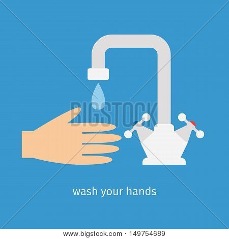 Water tap for cold and hot water